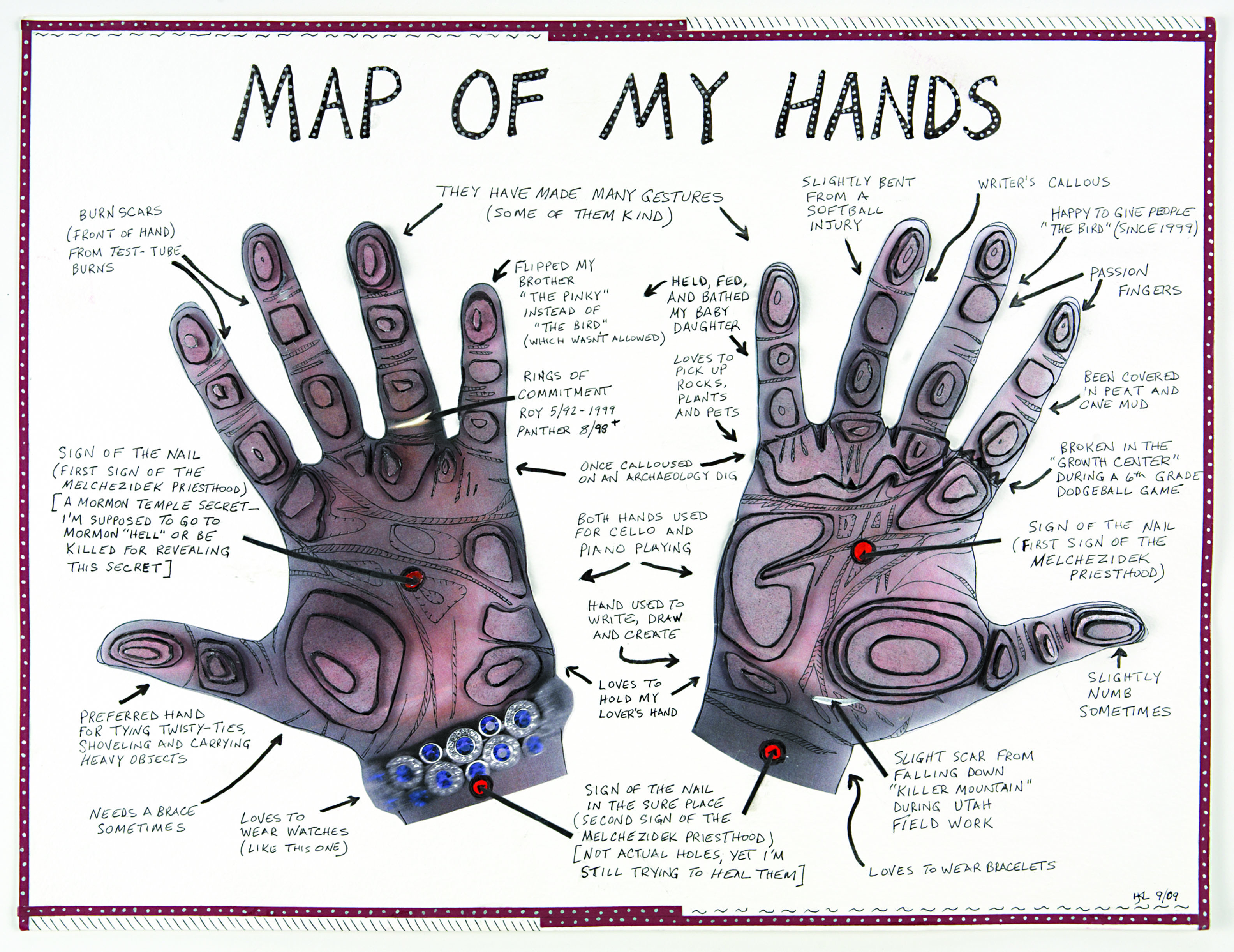 LaMoreaux map of hands composite